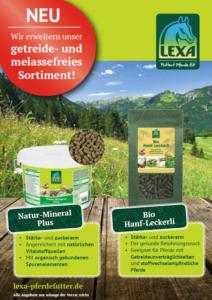 Getreide- und melassefreie Neuprodukte